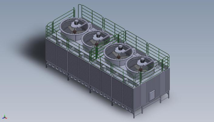 Cooling Tower Model Cooling Tower Autocad