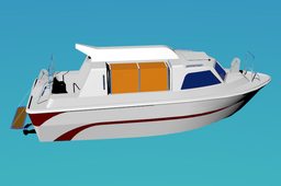 27p. yacht type partially enclosed lifeboat/Tender