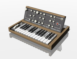 Electronic analog Moog Synthesizer
