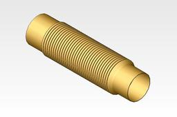 "Corrugated flexible connector for 4"" exhaust manifold"
