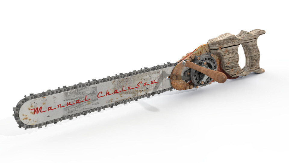 Manual ChainSaw   3D CAD Model Library   GrabCAD