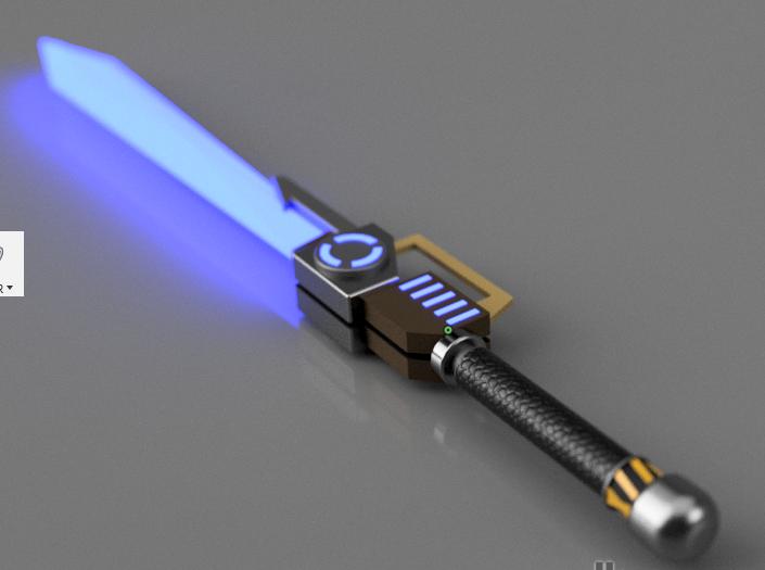 Fortnite Sword Vindertech Weapon 3d Cad Model Library Grabcad