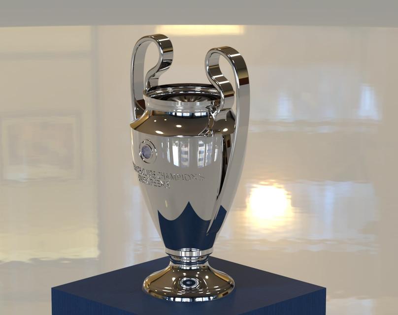 UEFA Champions League Trophy | 3D CAD Model Library | GrabCAD