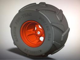 Front Wheel Claas Combine - Ruota anteriore Mietitrebbia Claas