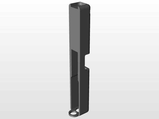 Glock 17 4 gen slide   3D CAD Model Library   GrabCAD