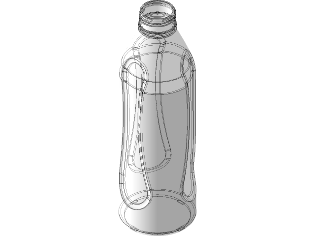 Pet Water Bottle With 2d Drawing 3d Cad Model Library Grabcad