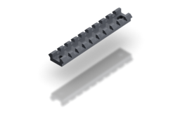 Picatinny rail mount base 100mm