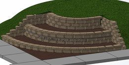 Corner 3 Tier Retaining Wall