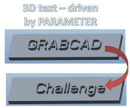 Tutorial: How to model parametric 3D text in PTC Creo Parametric and show design intent