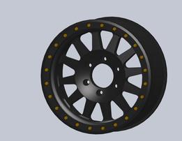 Method Race Wheel, Double Standard Matte Black Street Loc 304, 17x8.5