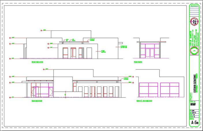 Front Elevation Autocad File Free Download : Office front and rear elevations autocad d cad model
