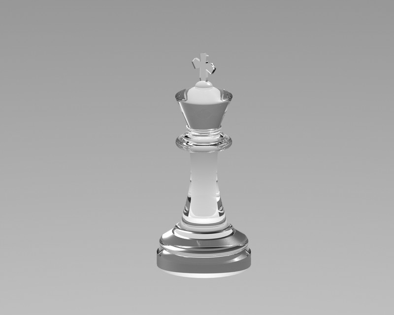 Glass Chess Piece King 3d Cad Model Library Grabcad