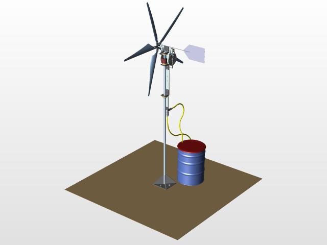 Windmill Water Pump 3d Cad Model Library Grabcad