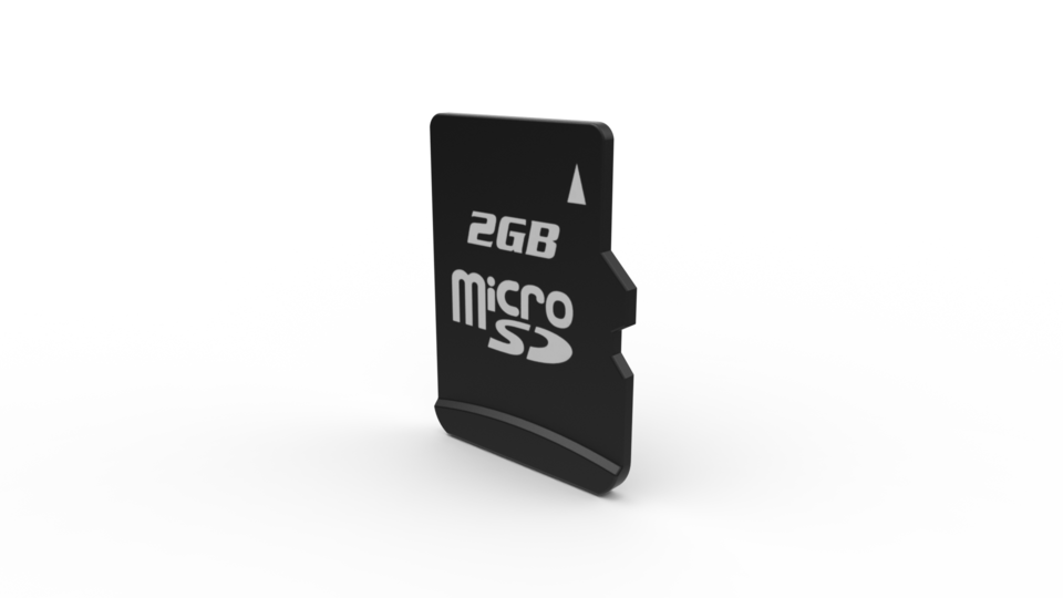 Micro sd card step iges stl solidworks 3d cad model - Carte micro sd leclerc ...