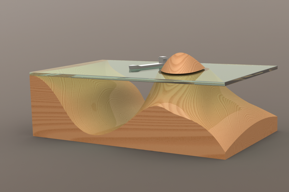 Topographic Table D CAD Model Library GrabCAD - Topographic coffee table