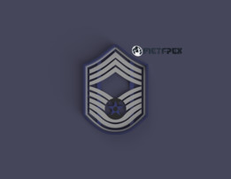 US Air Force Chief Master Sergeant Rank Symbol, Cookie Cutter