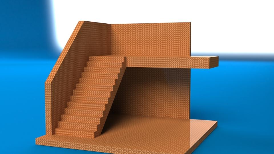 Chaise monte escalier solidworks 3d cad model grabcad for Chaise escalier