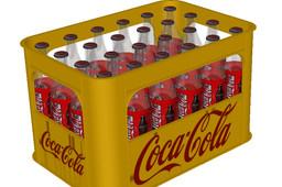 Realistic Coke Bottles in Boxes