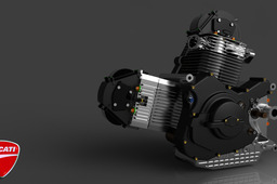 Rendering for Ducati V2 engine