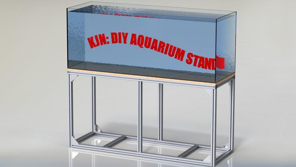 Diy Aluminium Fish Tank Stand 3d Cad Model Library Grabcad