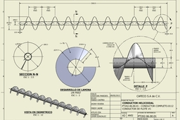 Conveyor Helix Plan (screw)