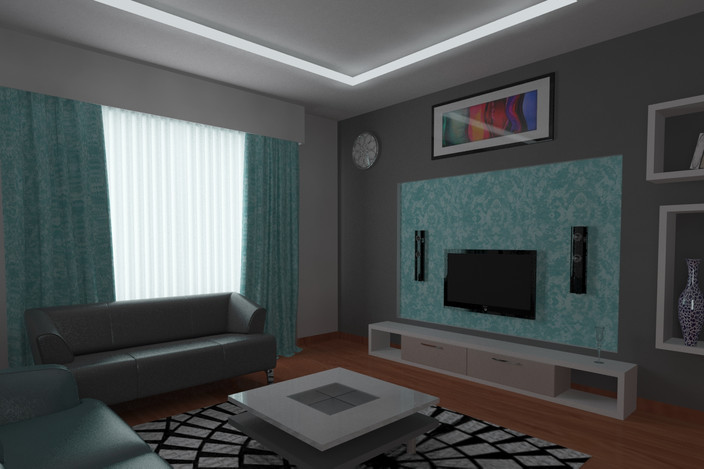 Living room autodesk 3ds max 3d cad model grabcad for Living room 3ds max