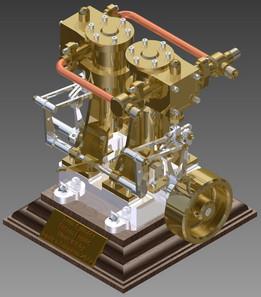 Twin Cylinder Steam Engine