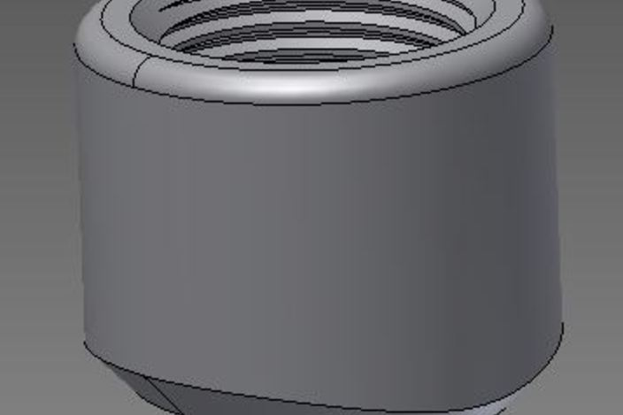 Quot threadolet fitting autodesk inventor d cad model