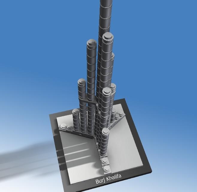 Lego set 21008 burj khalifa stl autodesk inventor step for 3d model viewer