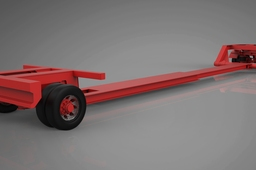 Extendable trailer with rigid axle and steering axle