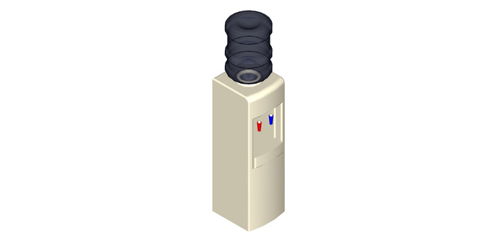 Basic Water Dispenser  Autocad  3d Cad Model Grabcad