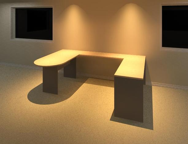 Desk - U Shaped/Cubicle Stlye