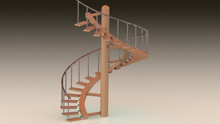 Spiral Staircase Stl Solidworks Other 3d Cad Model