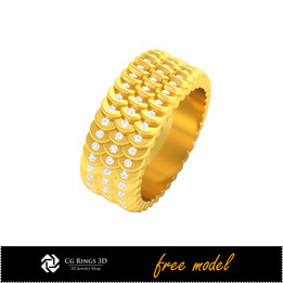 3D CAD Wedding Ring - Free 3D Model