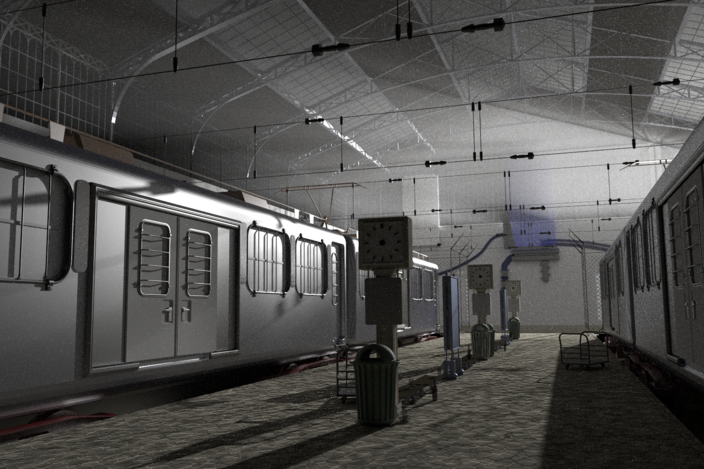 City 17 train station half life 2 autodesk 3ds max for Half life 2 architecture