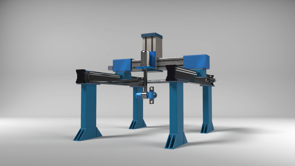 Gantry Robot | 3D CAD Model Library | GrabCAD