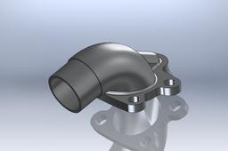 Cast alluminum intake