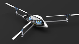 Collective pitch Tricopter with two central motors Concept