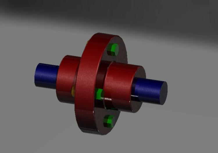 Flange Coupling Unprotected | Creo | part Design And