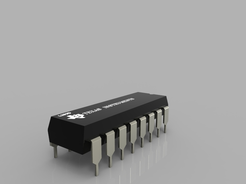 16 Pin Dip Ic Package 3d Cad Model Library Grabcad