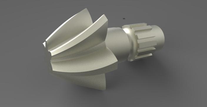 Tutorial: Modeling a helical gear in Catia V5.