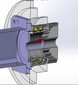 Mecanism axa B (masa rotativa)
