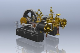 Tangye Horizontal Twin Cylinder Steam Engine