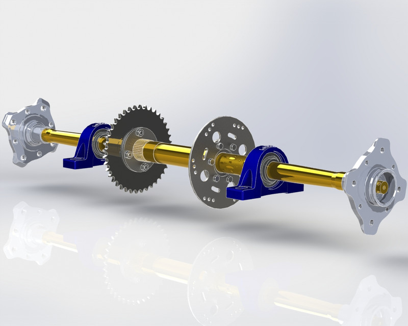 ATV four wheel drive motorcycles Axle | 3D CAD Model Library