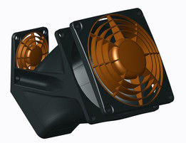 MakerGear M2 80mm Bed Fan mount and duct.