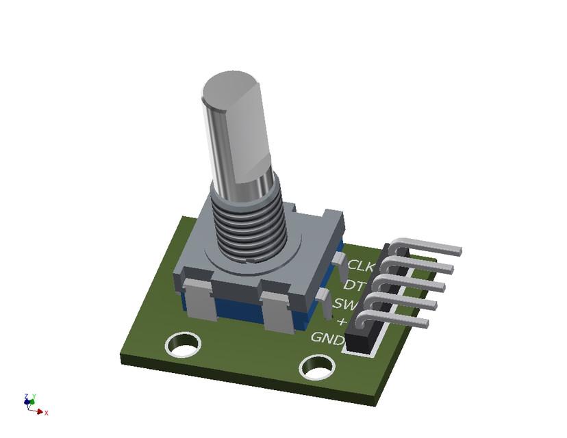 Rotary Encoder Arduino library - Cax