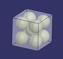 Puts a sphere in an cube