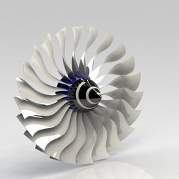 wide chord turbofan