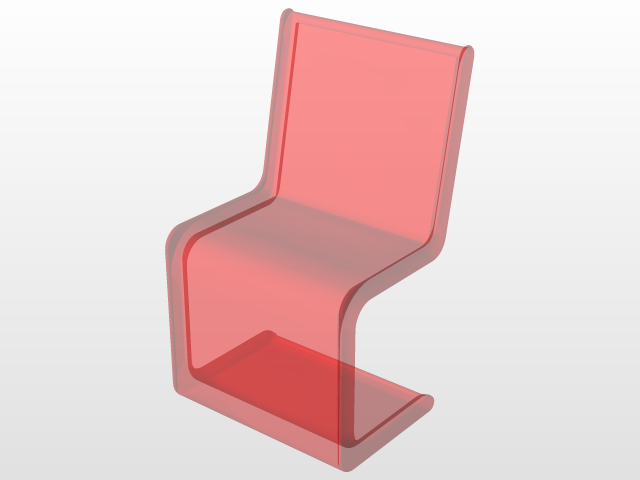 Modern See Through Chair | 3D CAD Model Library | GrabCAD
