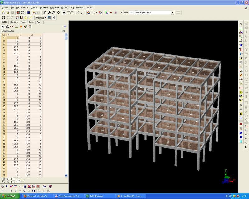 estructura de hormigon armado de un edificio y estructura de acero ...
